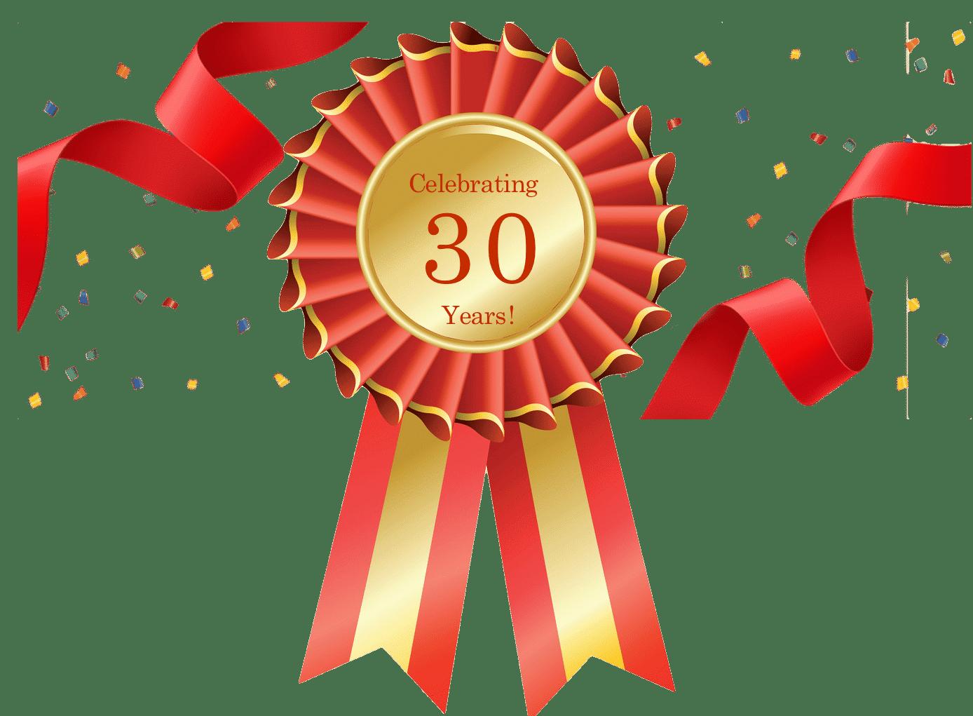 30_years_rosette